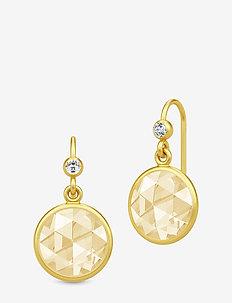 Cocktail Earrings - Gold//Lemon - pendant - gold / lemon