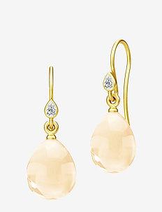 Prima Ballerina Earrings - Gold/Canary - hängande örhängen - gold / canary