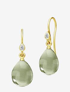 Prima Ballerina Earrings - Gold/Olive - GOLD / OLIVE