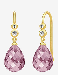 Avery Earrings - hängande örhängen - gold