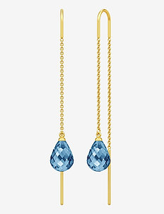 Avery Droplet Earrings - pendant - gold
