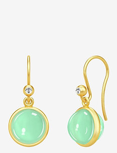 Primula Earrings - pendant - gold