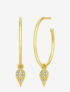 Peacock hoops gold - hoops - gold