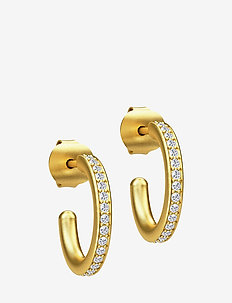 Infinity Hoop Small Earring - Gold - hoops - gold