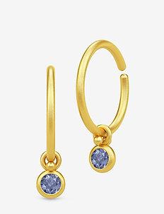 Finesse Minihoops - Gold/Iolite - GOLD /  IOLITE