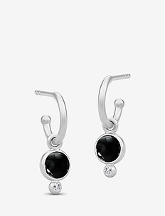 Prime Mini Hoops - Rhodium/Black - BLACK