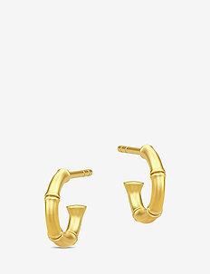 Bamboo Earring - hoops - gold