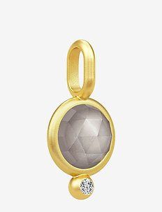 Moon Pendant ‐ Gold / Grey - pendants - gold