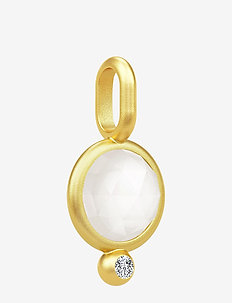 Moon Pendant ‐ Gold / White - wisiorki - gold