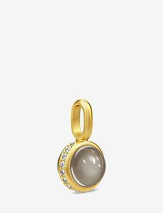 Luna Pedant - Gold/Grey - pendentifs - grey