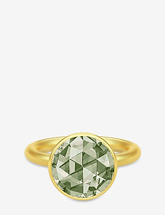 Cocktail Ring - Gold/Dusty Green - GOLD / DUSTY GREEN