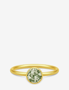 Cocktail Ring small - Gold/Dusty Green - GOLD / DUSTY GREEN