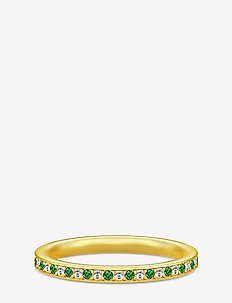 Infinity Ring Gold white/green - GOLD / GREEN
