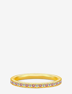 Infinity Ring Gold white/rhodo - GOLD / RHODOLIT