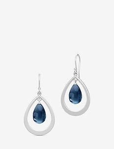 Prime Droplet Earrings - Rhodium/Sapphir - BLUE