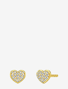 Pure Heart Earstuds - studs - gold