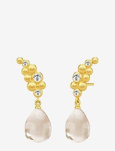 Bloom Droplet Earstuds ‐ Gold - pendant - gold