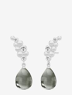 Bloom Droplet Earstuds ‐ Rhodium - pendant - rhodium