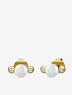 Perla earring - Gold - PEARL WHITE