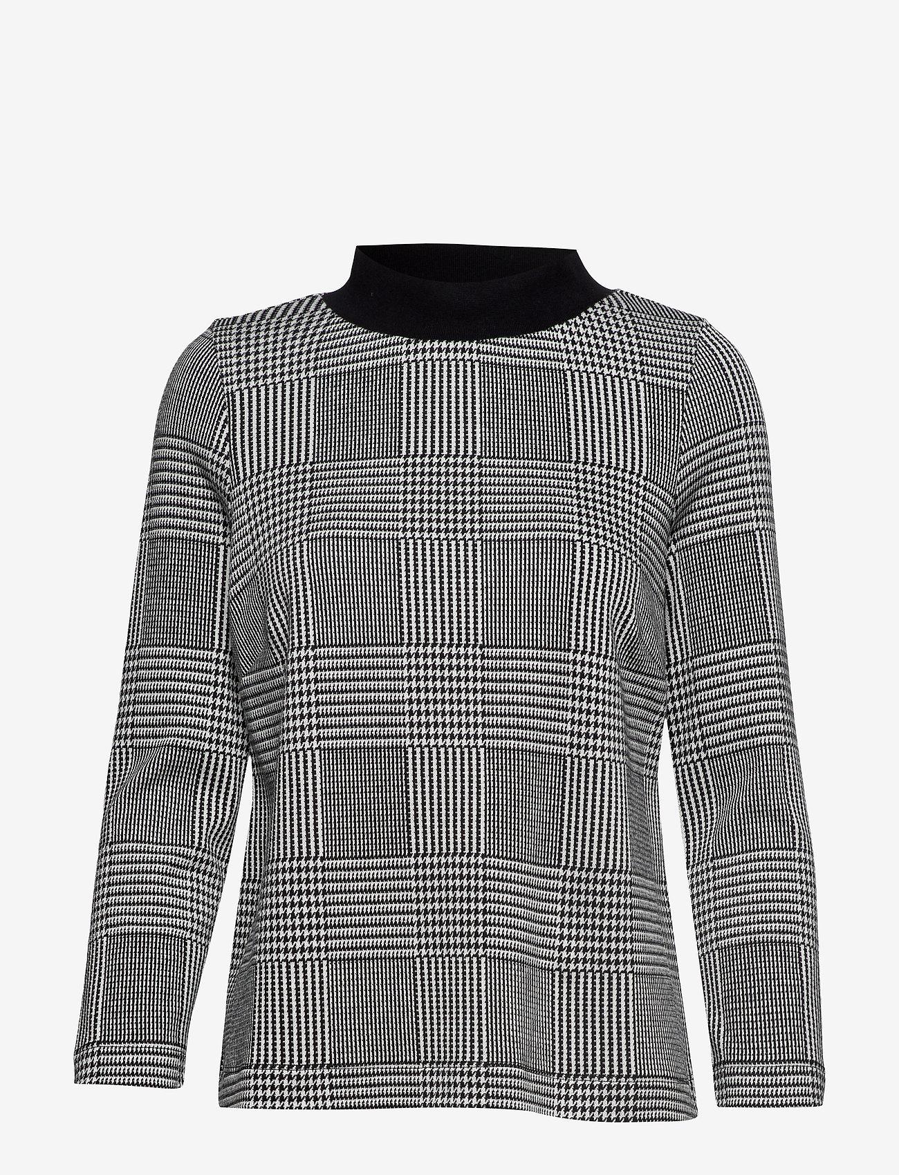 Jumperfabriken - Britta Glencheck - blouses à manches longues - black - 0