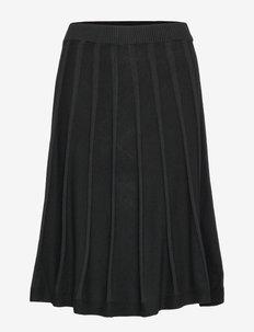 Henna skirt - midi skjørt - black