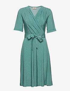 Celina - wrap dresses - green