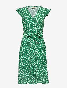 Dani - wrap dresses - green