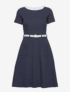 Paulina - do kolan & midi sukienki - navy