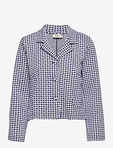 Elaine Dogtooth - wool jackets - blue