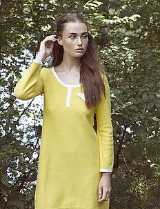 Britt - do kolan & midi sukienki - yellow