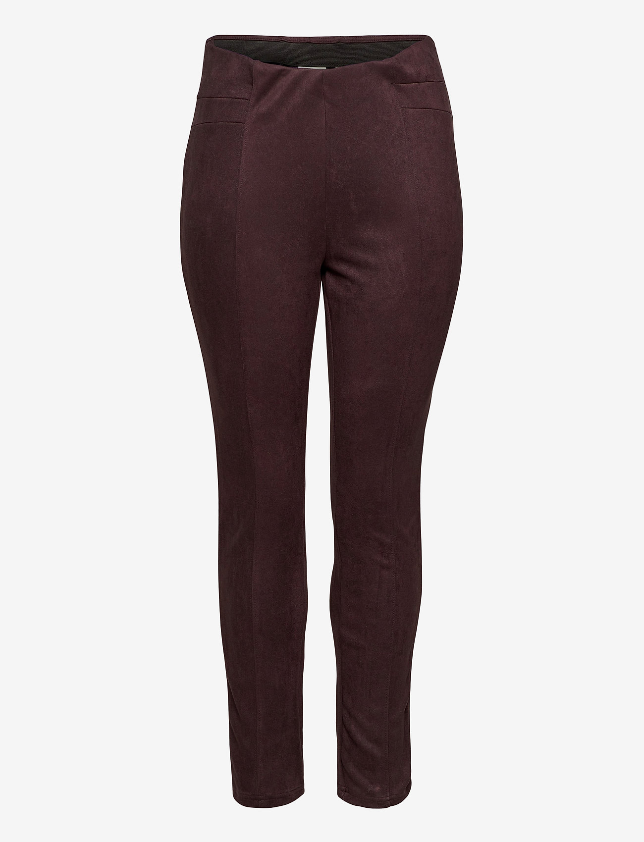 JunaRose - JRATONIA LEGGINGS - S - nahka - chocolate plum - 0