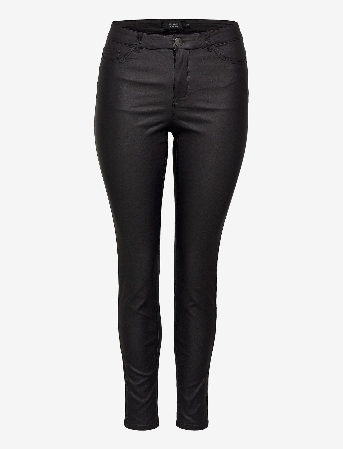 JunaRose - JRFOUR RW SS COATED PANTS - K GA NOOS - slim jeans - black - 0