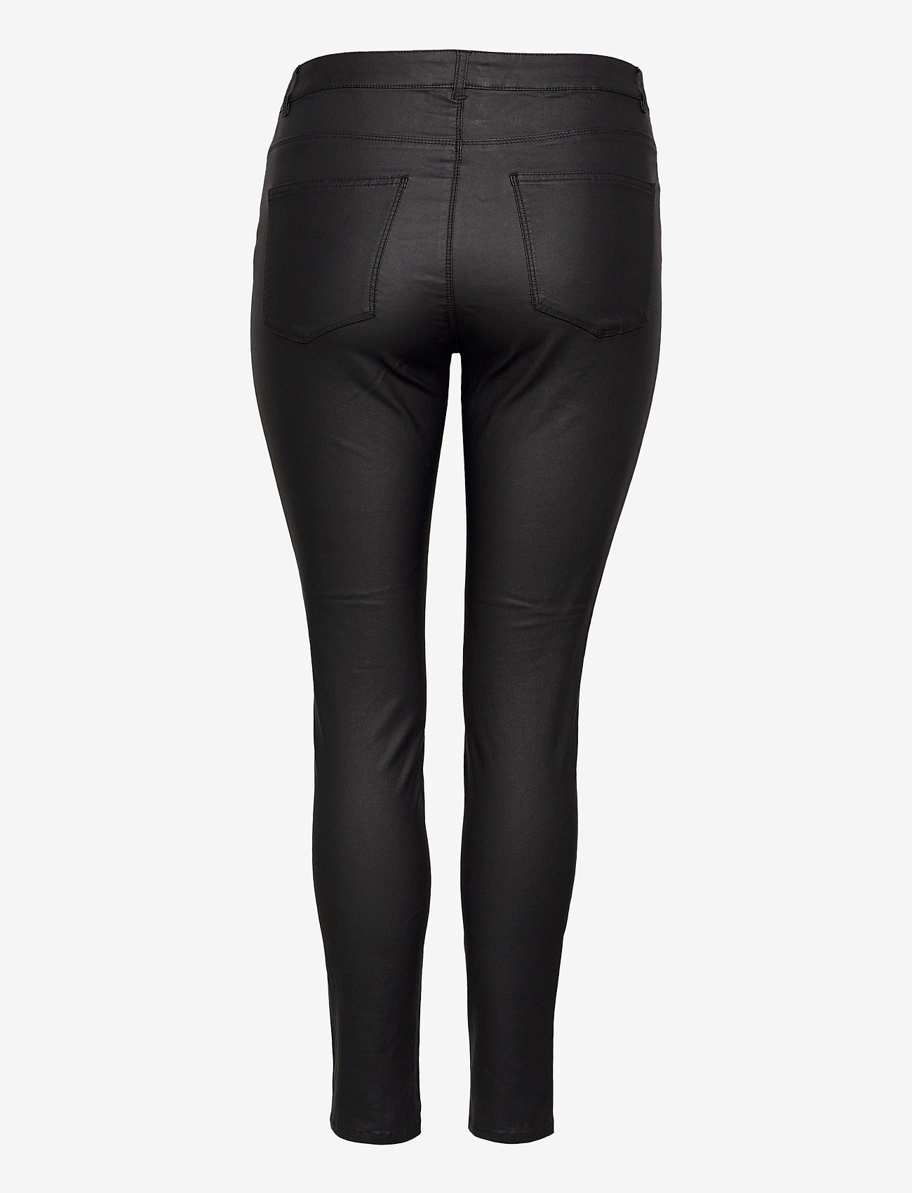 JunaRose - JRFOUR RW SS COATED PANTS - K GA NOOS - slim jeans - black - 1