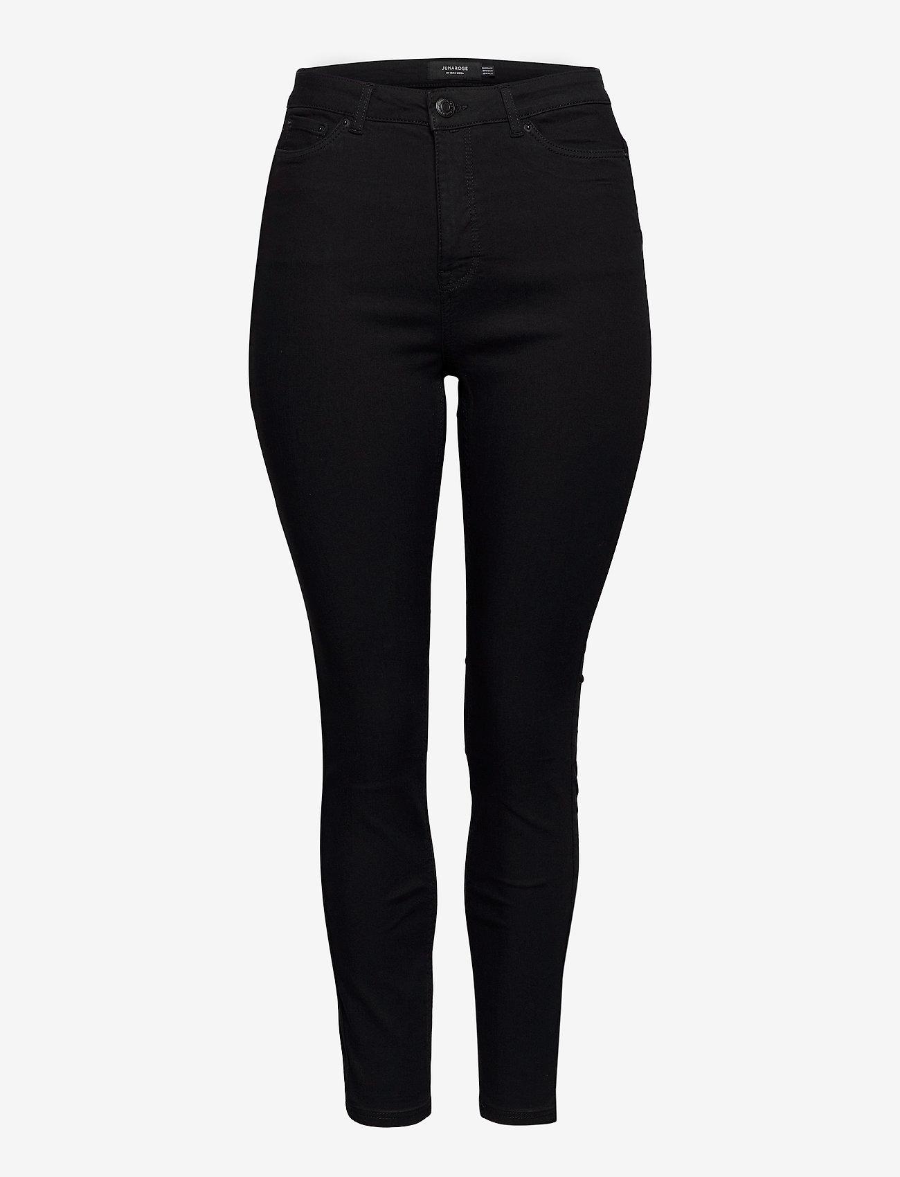 JunaRose - JRZEROTANJA SL BLACK JEANS - K NOOS - slim jeans - black - 0