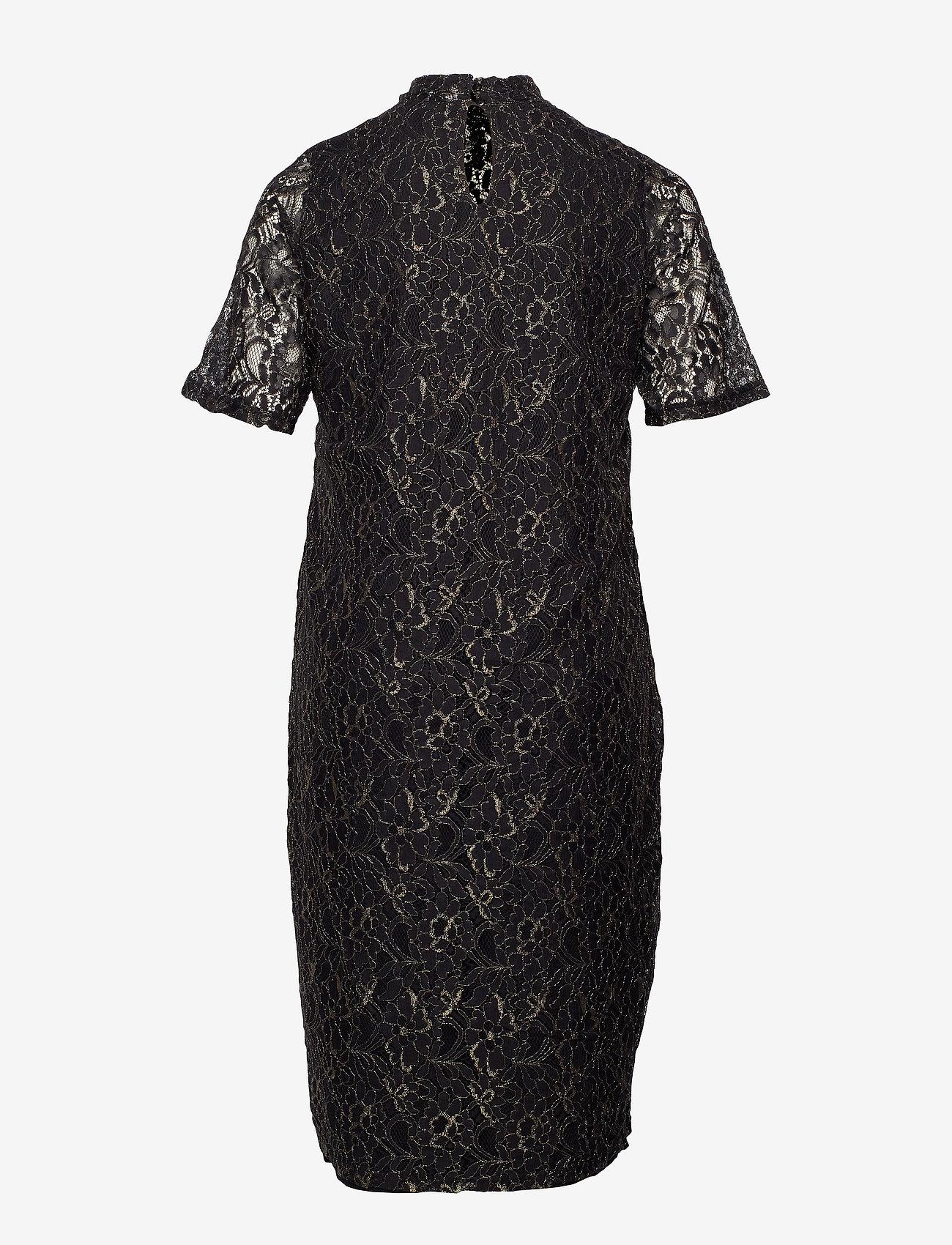 Jrjuli Ls Below Knee Dress - S (Black) (164.70 kr) - JunaRose