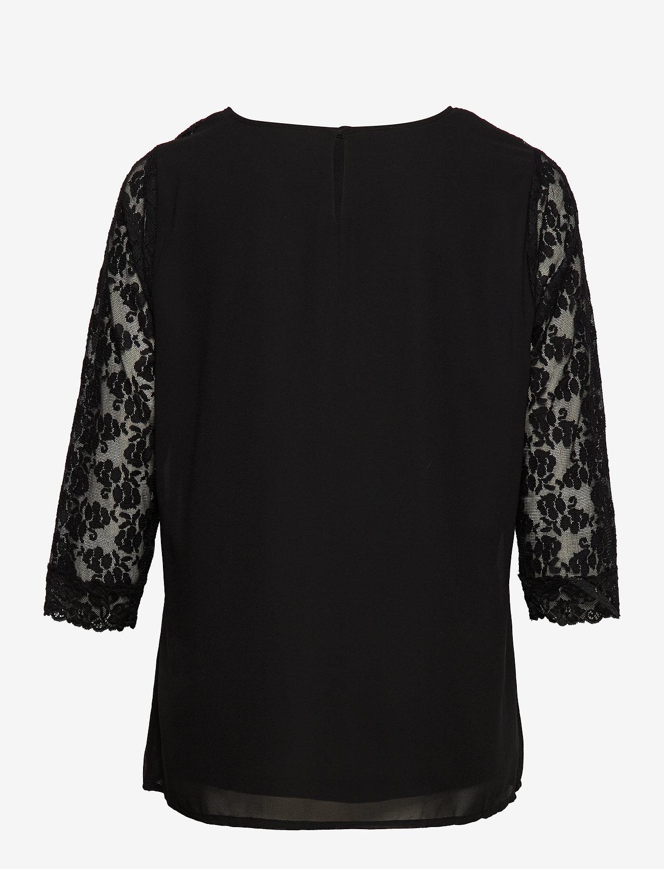 JunaRose JRELYSA 3/4 SLEEVE BLOUSE - K - Bluzki & Koszule BLACK - Kobiety Odzież.