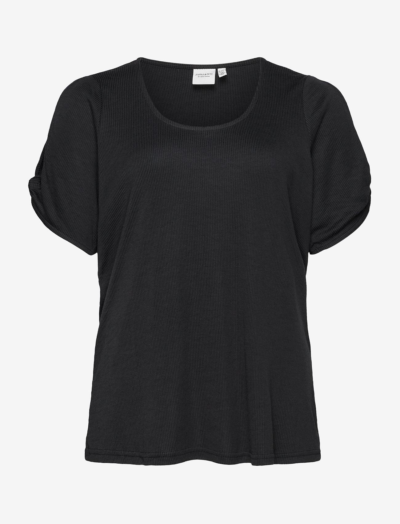 JunaRose - JRMAYSIN SS TOP - S - t-shirts - black - 0