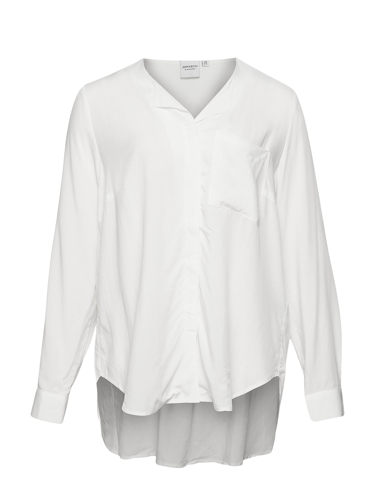 JunaRose JRVERONICA LS SOLID SHIRT - K - SNOW WHITE