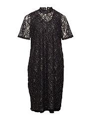 JRJULI LS BELOW KNEE DRESS - S - BLACK