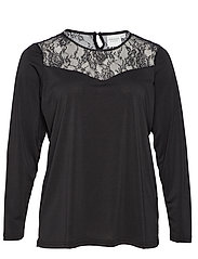 JRTIT LS BLOUSE - S - BLACK