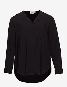 JRVERONICA LS SOLID SHIRT - K NOOS - BLACK
