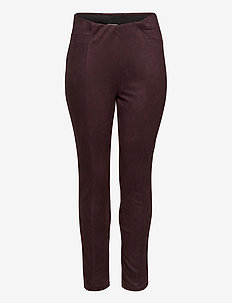 JRATONIA LEGGINGS - S - nahka - chocolate plum