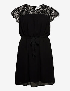 JRCAROLINA SS DRESS - K - lyhyet mekot - black