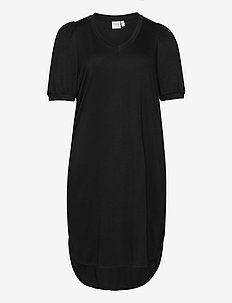 JRCHASE 2/4 SL HIGH/LOW DRESS - S - midimekot - black