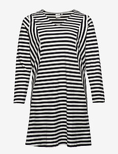 JRRISE LS ABOVE KNEE DRESS- S - BLACK