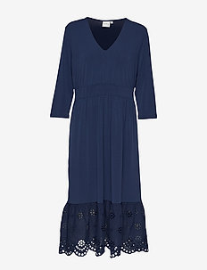 JRSHIPPI 3/4 SLEEVE MIDI DRESS - S - BLACK IRIS