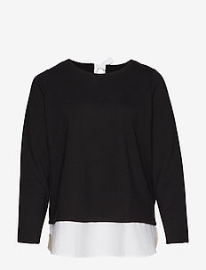 JRCECIL LS BLOUSE - S - BLACK