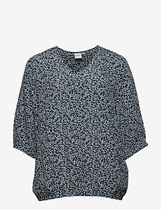 JRVITANAWRESTA 3/4 SLEEVE BLOUSE - K - MIDNIGHT NAVY
