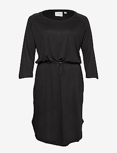 JRZAKAS 3/4 SLEEVE BELOW KNEE DRESS - S - BLACK
