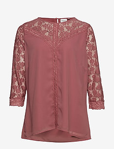 JRELYSA 3/4 SLEEVE BLOUSE - K - WITHERED ROSE